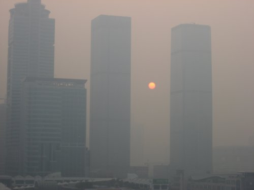 Air quality in Shenzhen, China where Apple makes iPhones.