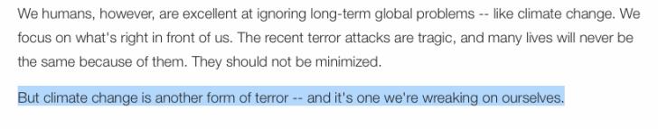 CNN Columnist John Sutter: 'Climate change is a form of terror'