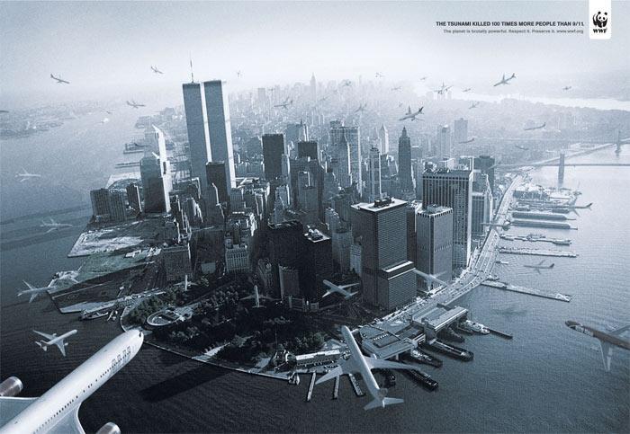 WWF-ad-comparing-911--and--Tsunami