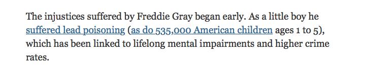 Kristof Freddie Gray lead