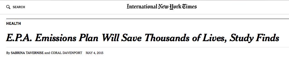 EPA study headline NYTimes 050515