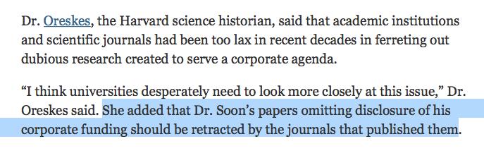 Oreskes NYTimes Soon article